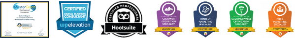 osmond maguire business coach accreditations, certified mastercoach, certified wordpress consultant, certified digital marketer
