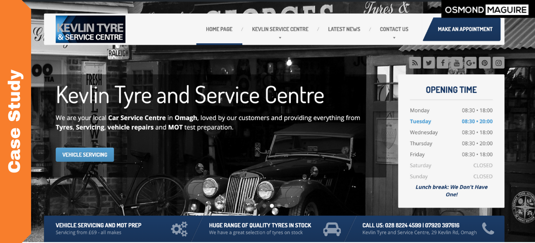 osmond maguire business coach case study kevlin tyre centre omagh